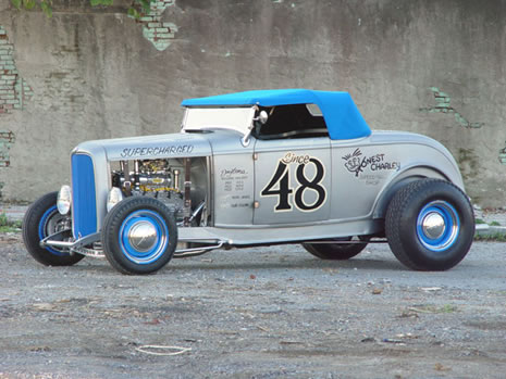 Coker Tire and Honest Charley's 1932 roadster named: Double Exposure
